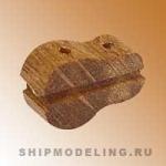 Комель-блок, одношкивный, орех, 10 мм, 4 шт