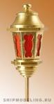 Кормовой фонарь, латунь и пластик, 25 мм
