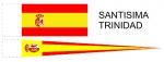 Набор флагов Испании для корабля Santisima Trinidad