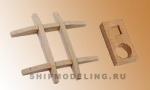 Салинг с эзельгофтом английского типа, орех, 32x34 мм