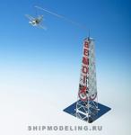 Гоночный Самолёт GEE BEE Racer R-1 С Вышкой масштаб 1:160