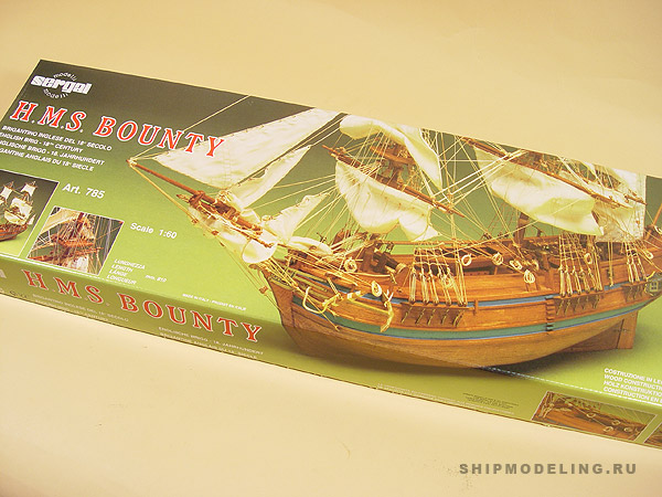 HMS BOUNTY(Mantua) масштаб 1:60