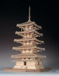 5-ти Ярусная Пагода Horyuji масштаб 1:75