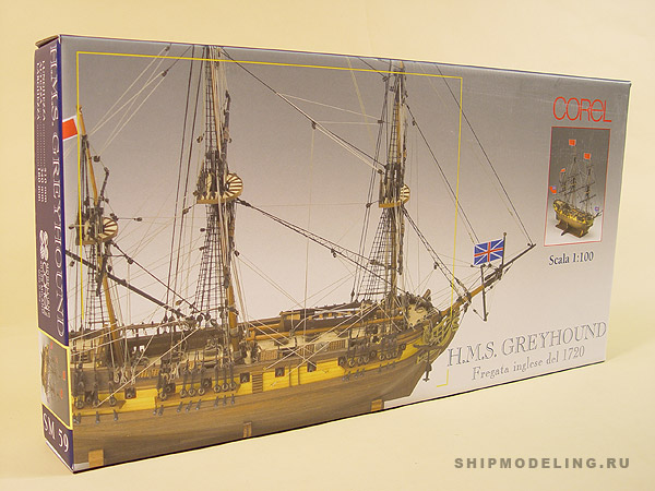HMS Greyhound масштаб 1:100