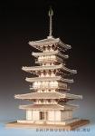 3-х Ярусная Пагода Yakushiji масштаб 1:75