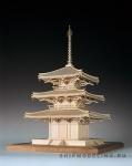 3-х Ярусная Пагода Horinji масштаб 1:75