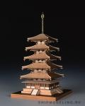5-ти Ярусная Пагода Horyu-ji масштаб 1:150