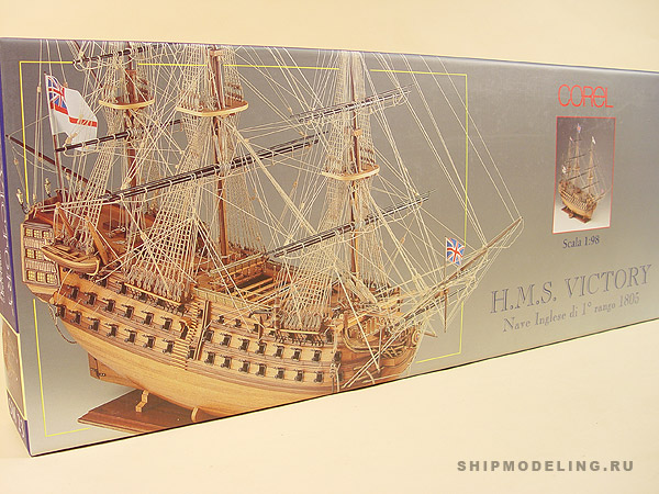 HMS Victory масштаб 1:98