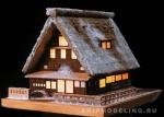 YUKI-NO-GASSHO, дом с подсветкой