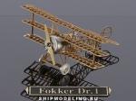 Истребитель  Fokker DR. 1 масштаб 1:160