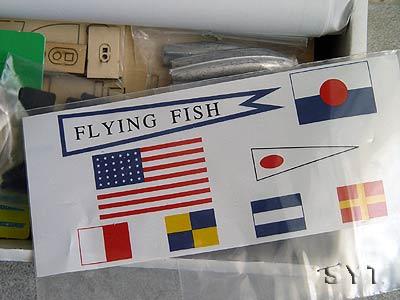 Деревянный корабль для сборки Flying Fish
