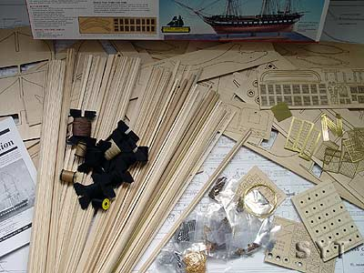 USS CONSTITUTION(Model Shipways) масштаб 1:76