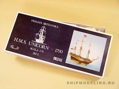 HMS Unicorn масштаб 1:75