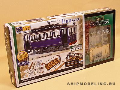 Модель трамвая Tibidabo  масштаб 1:24