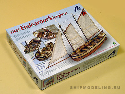 HMS Endeavour шлюпка масштаб 1:50