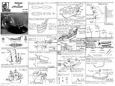 Чертеж корабля Galeone in