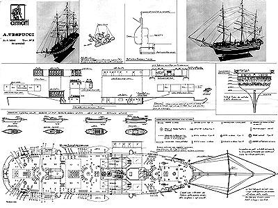 Чертеж корабля Amerigo