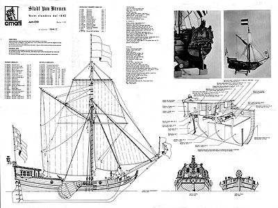 Чертеж корабля Stadt VON
