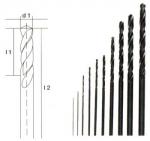 Набор сверл от 0,3 до 3,2 мм, 10 шт