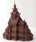Норвежская Каркасная Церковь масштаб 1:87