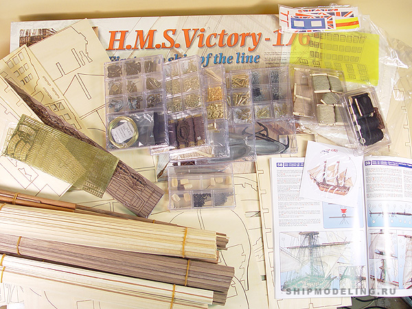 HMS Victory масштаб 1:84