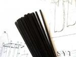 Рейка черная, липа, 1х1 мм, 5шт