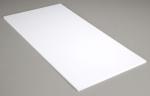Белый пластик 2 мм, 1 лист 15х30 см