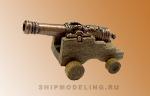 Пушка c декоративным узором на станке, металл и дерево, 30 мм