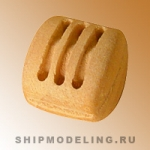 Блок профессиональный, трёхшкивный, груша, 4 мм, 10 шт