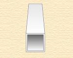 Квадратная пластиковая трубка 6,3 мм, 2 шт