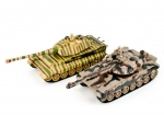 Радиоуправляемый танковый бой Русский Т90 и Немецкий KING TIGER 2.4G - ZEG-99821