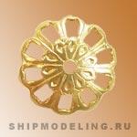 Декоративный элемент 10 мм, латунь, 10 шт