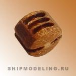 Блок, трёхшкивный, груша, 4 мм, 10 шт