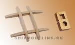 Салинг с эзельгофтом английского типа, орех, 25x27 мм