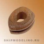 Штаг-блок, орех, 10 мм, 2 шт