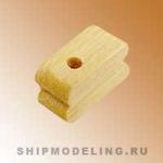 Блок, одношкивный, самшит,  3 мм, 20 шт