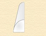 Пруток пластиковый четверть круга 1,5 мм, 4 шт