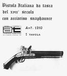 Чертеж пистолета 17 века