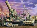 31156 Пушка 54cm MORSER KARL 041 w/MUNITIONSPANZER IV ausf.F (HASEGAWA) 1/72
