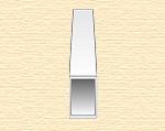 Прямоугольная пластиковая трубка 4,8х7,9мм, 2 шт