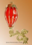 Кормовой фонарь, латунь и пластик, 40мм