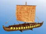Viking Ship GOKSTAD, (мелкий) IX век масштаб 1:72