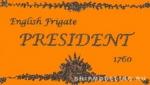 Табличка 87х50 мм President