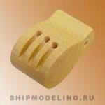 Комель-блок, трехшкивный, самшит, 8 мм, 2 шт