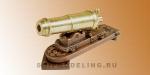 Карронада с рабочим механизмом, латунь и бронза, 20 мм