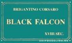 Табличка 87х50 мм Black Falcon
