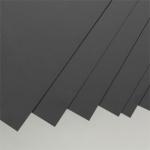 Черный пластик 0,25 мм, 4 листа 15х30 см