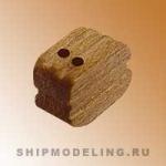 Блок, двушкивный, орех, 4 мм, 15 шт