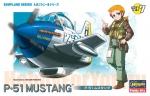 60117 Модель самолета EGG PLANE P-51 MUSTANG (HASEGAWA)