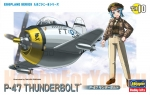 60120 Модель самолета EGG PLANE P-47 THUNDERBOLT (HASEGAWA)